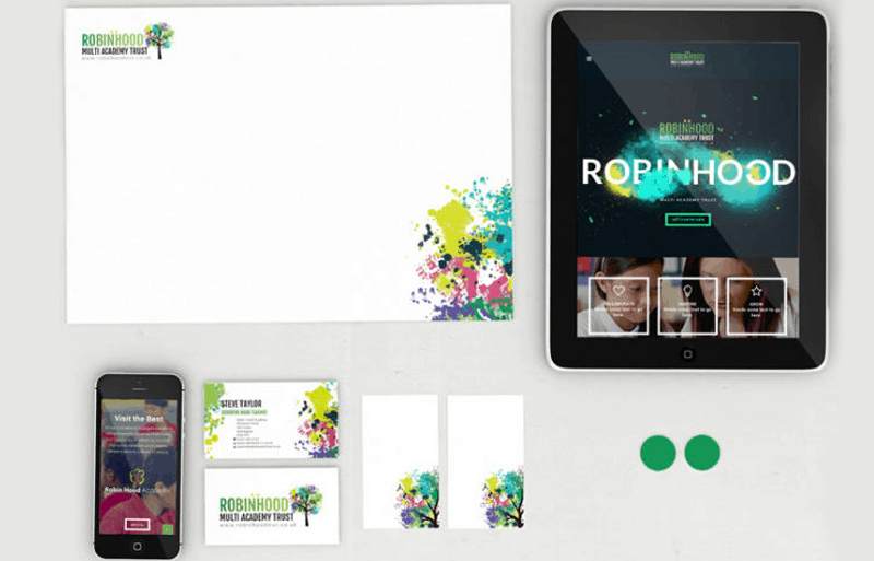 Robin Hood School Branding And Website