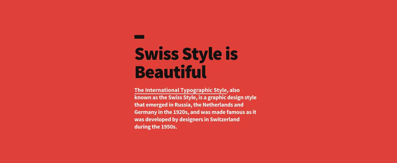 Swiss Style Is Beautiful